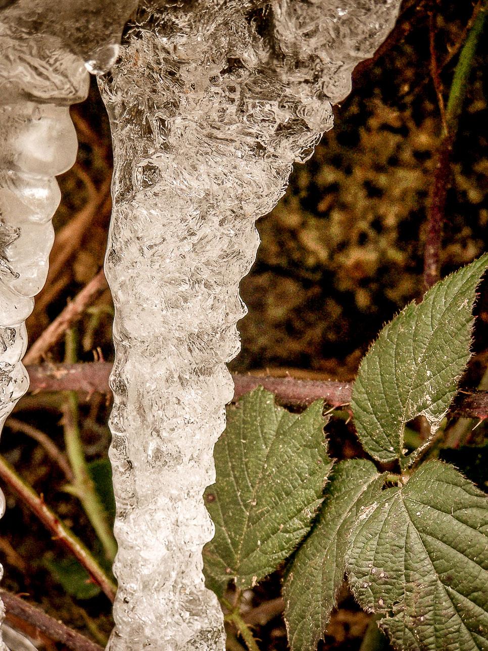 Nature insolite : cascades éphémères gelées route de Dun-les-places (2)