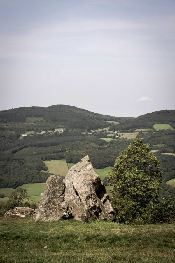 Paysages du Morvan : vue au nord depuis le Mont Beuvray