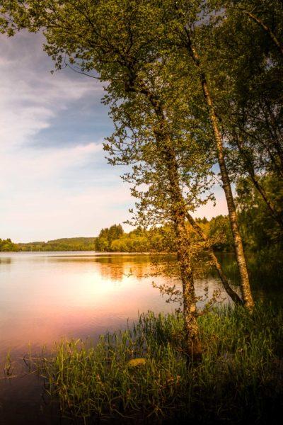 jeux de lumière : Lac des Settons