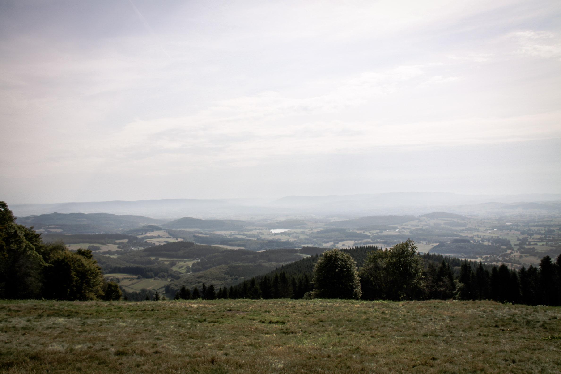 Paysages du Morvan : vue depuis Bibracte