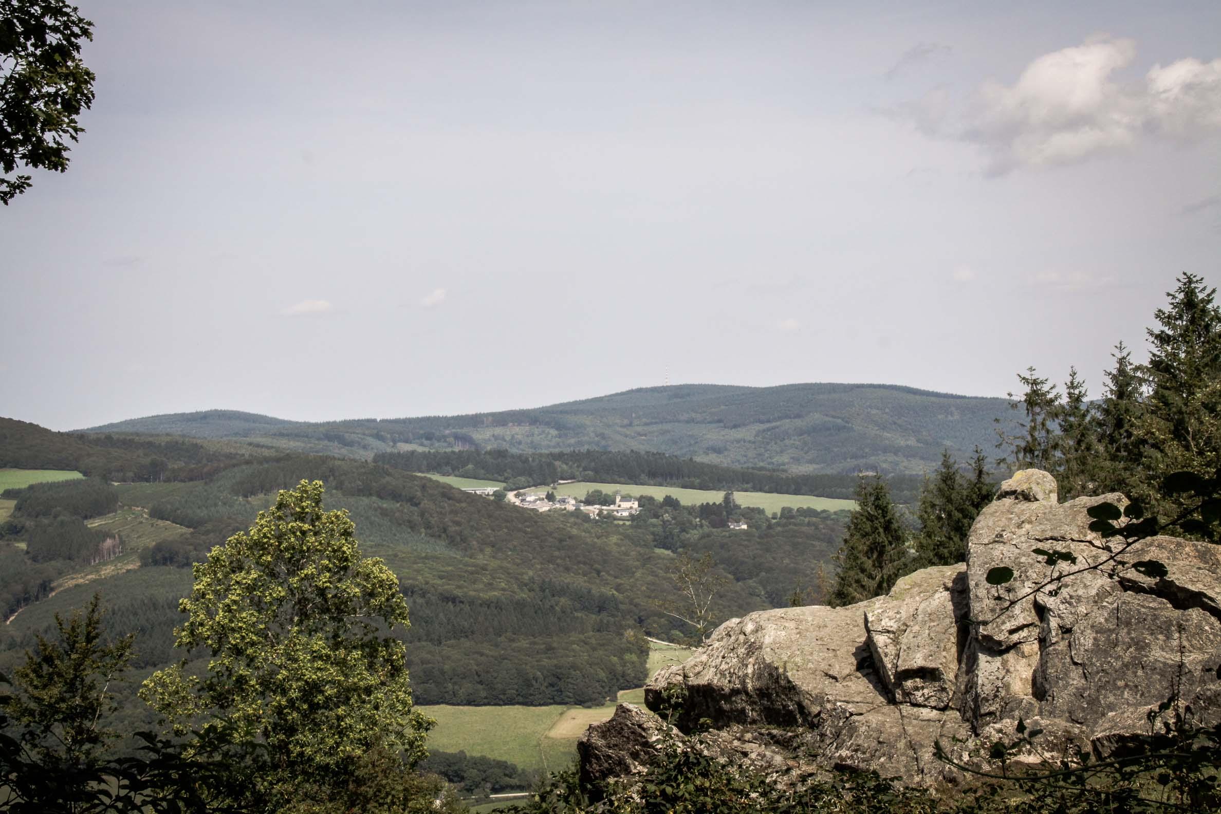 Paysages du Morvan : Vue vers le nord depuis le Mont Beuvray