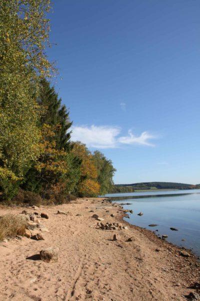 Lac de Saint-Agnan octobre 2017 sur le sentier autour du lac (2)
