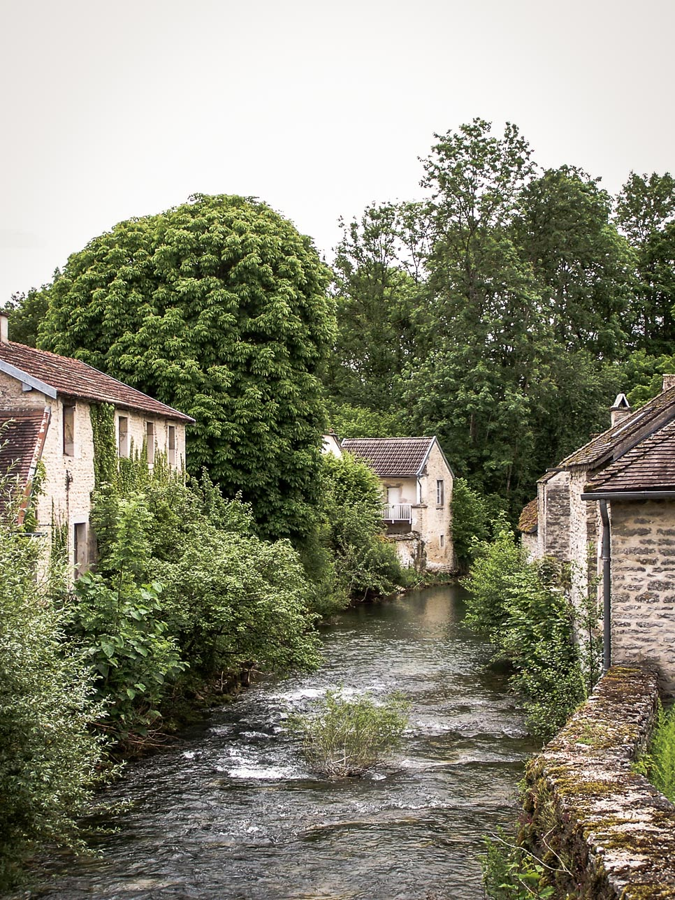 paysages remarquables de bourgogne : Moloy petit village bordant l'Ignon (21)